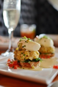 Crab Cakes Poached Eggs, 5Church, Charleston