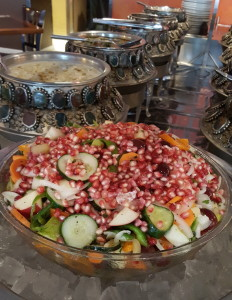 Composed salad at Saffron's lunch buffet. From i8tonite: A Cheat Sheet to Eating in Kalamazoo