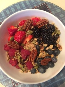 Recipe: Berry Good and Nutty Whole Grain Cereal Breakfast . From i8tonite with Bob Warden: QVC Pioneer and Cooking Legend