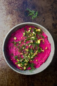 Beet-Hummus - from i8tonite: with Erika Lenkert, Creator, EIC of GFF Magazine & Her Best Effing Chicken