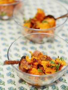 i8tonite with Food Expert Simran Sethi and recipe for Sweet Potatoes With Mustard Seeds