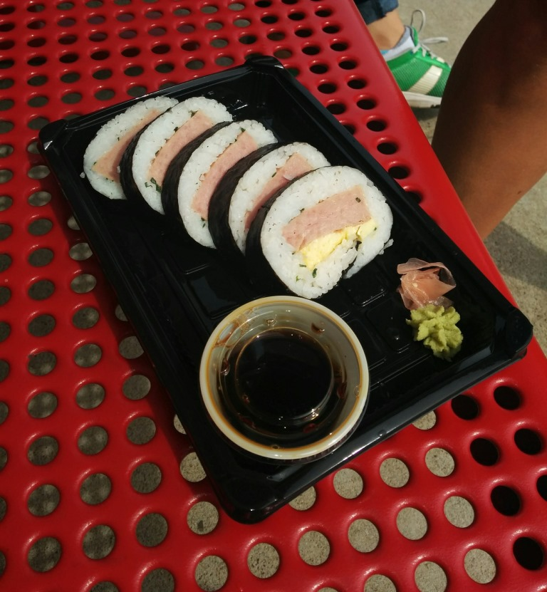 MN SF Spam Sushi. From i8tonite with Minnesota's Heavy Table Writer Amy Rea & Recipe for Tomato-Poached Eggs