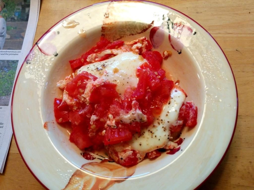 . From i8tonite with Minnesota's Heavy Table Writer Amy Rea & Recipe for Tomato-Poached Eggs