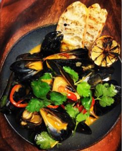 Mussels. From i8tonite: From Zookeeper to Culinary Guardian: The Dream Jobs of Chef JT Walker