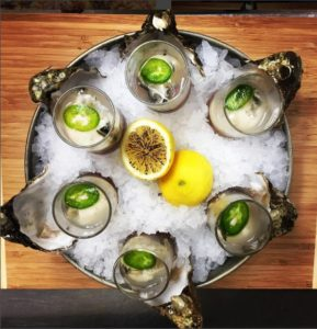 Oysters. From i8tonite: From Zookeeper to Culinary Guardian: The Dream Jobs of Chef JT Walker