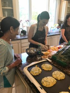 Teaching a cooking class. i8tonite with Oy Vey Vegan Author Estee Raviv & Vegan Stuffed Peppers Recipe