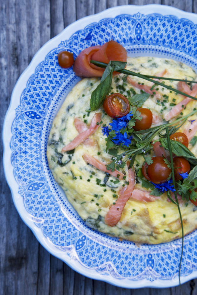Recipe for smoked salmon and farm egg frittata. From i8tonite with Chef and Simply Fish Author Matthew Dolan & Recipe for Smoked Salmon Frittata