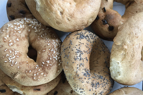 Bagels. From i8tonite: One New York Woman's Food Allergies Became an Award-Winning Bakery