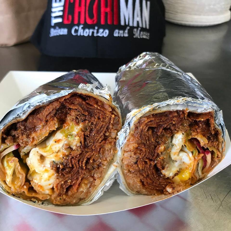 Chori Man Breakfast Burrito. 2017 Best Restaurant Dishes in Southern California